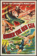 "Movie Posters:Documentary, Under the Red Sea (RKO, 1952). One Sheet (27"" X 41""). Documentary.. ..."