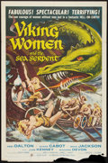 "Movie Posters:Fantasy, Viking Women and the Sea Serpent (American International, 1958).One Sheet (27"" X 41""). Fantasy.. ..."