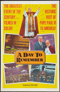 """A Day to Remember (Allied Artists, 1965). One Sheet (27"""" X 41""""). Documentary"""