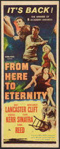 "Movie Posters:War, From Here to Eternity (Columbia, R-1958). Insert (14"" X 36""). War....."