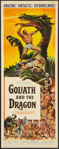 "Movie Posters:Adventure, Goliath and the Dragon (American International, 1960). Insert (14""X 36""). Adventure.. ..."