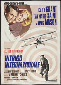 "North by Northwest (Cinema International, R-1976). Italian 2 - Folio (39"" X 55""). Hitchcock"