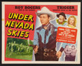 "Movie Posters:Western, Under Nevada Skies (Republic, 1946). Half Sheet (22"" X 28""). Western.. ..."