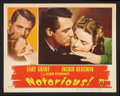 """Movie Posters:Hitchcock, Notorious (RKO, 1946). Lobby Card (11"""" X 14""""). Hitchcock.. ..."""