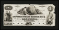 Obsoletes By State:Maryland, Baltimore, MD- Howard Street Savings Bank $1 Shank 5.94.2P Proof. ...