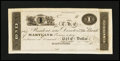 Obsoletes By State:Maryland, Baltimore, MD- Bank of Maryland $1 G24a Shank 5.118.10P Proof. ...