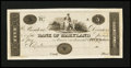 Obsoletes By State:Maryland, Baltimore, MD- Bank of Maryland $5 G36 Shank 5.118.14P Proof. ...