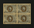 Fractional Currency:Second Issue, Fr. 1244 10¢ Second Issue Block of Four New....