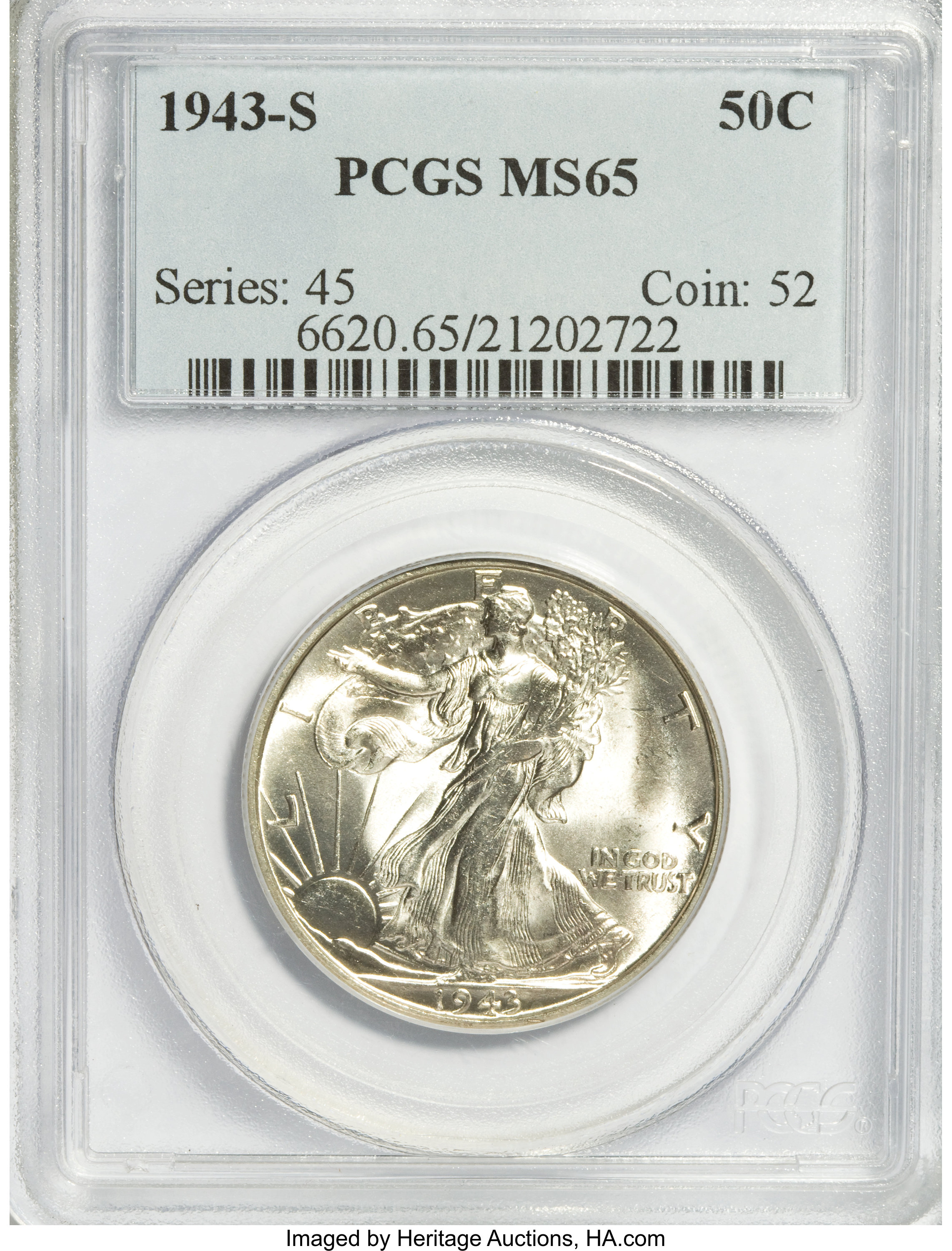 NGC Certified MS 65 1972 Kennedy 50c