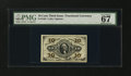 Fractional Currency:Third Issue, Fr. 1256 10¢ Third Issue PMG Superb Gem Unc 67 EPQ....
