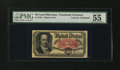 Fractional Currency:Fifth Issue, Fr. 1381 Milton 5R50.1a 50¢ Fifth Issue Courtesy Autograph PMG About Uncirculated 55....