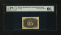 Fractional Currency:Second Issue, Fr. 1286a 25¢ Second Issue Slate Back PMG Gem Uncirculated 66....