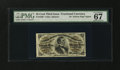 Fractional Currency:Third Issue, Fr. 1296 25¢ Third Issue PMG Superb Gem Unc 67 EPQ....