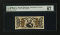 Fractional Currency:Third Issue, Fr. 1325 50¢ Third Issue Spinner PMG Superb Gem Unc 67 EPQ....