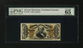 Fractional Currency:Third Issue, Fr. 1337 50¢ Third Issue Spinner PMG Gem Uncirculated 65 EPQ....