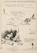 Mainstream Illustration, FRED SEIBEL (American, 1886-1968). Drought Relief cartoonillustration, February 14, 1931. Ink on paper. 18 x 12 in..Si...