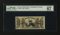 Fractional Currency:Third Issue, Fr. 1366 50¢ Third Issue Justice PMG Superb Gem Unc 67....