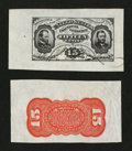 Fractional Currency:Third Issue, Fr. 1274SP 15¢ Third Issue Wide Margin Pair Extremely Fine.... (Total: 2 notes)
