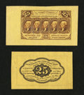 Fractional Currency:First Issue, Fr. 1282SP 25¢ First Issue Wide Margin Pair Choice About New.... (Total: 2 notes)