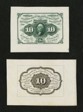 Fractional Currency:First Issue, Fr. 1243SP 10¢ First Issue Wide Margin Pair Choice About New.... (Total: 2 notes)