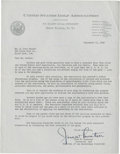 Golf Collectibles:Autographs, 1940 Jess Sweetser Signed Letter....