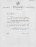 Golf Collectibles:Autographs, 1963 Richard Tufts Signed Letter....