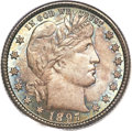 Barber Quarters, 1897-O 25C MS66 PCGS. CAC....