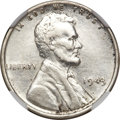 Lincoln Cents, 1943 1C Cent--Struck on Curacao 25 Cent Planchet--XF40 NGC.. ...