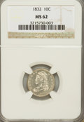 Bust Dimes, 1832 10C MS62 NGC....