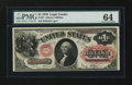 Large Size:Legal Tender Notes, Fr. 27 $1 1878 Legal Tender PMG Choice Uncirculated 64....