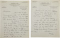 Golf Collectibles:Autographs, 1932 George Low Handwritten Signed Letter to Jerome Travers....