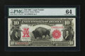 Large Size:Legal Tender Notes, Fr. 119 $10 1901 Legal Tender PMG Choice Uncirculated 64....