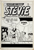 Original Comic Art:Covers, Stevie #5 Cover Original Art (Magazine Publishers, 1952)....