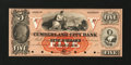 Obsoletes By State:Maryland, Cumberland, MD- Cumberland City Bank $5 G2 Shank 30.4.3P Proof. ...