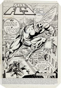 Original Comic Art:Splash Pages, Dick Ayers and Rex Lindsey The Fly #9 Splash page 1 OriginalArt (Archie, 1984)....