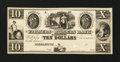 Obsoletes By State:Maryland, Hagerstown, MD- Farmers and Millers Bank $10 G18 Shank 60.3.16P Proof. ...