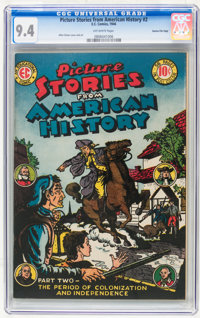 Picture Stories From American History #2 Gaines File pedigree 4/11 (EC, 1946) CGC NM 9.4 Off-white pages