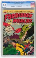 "Golden Age (1938-1955):Science Fiction, Forbidden Worlds #3 Davis Crippen (""D"" Copy) pedigree (ACG, 1951) CGC VF 8.0 Off-white to white pages...."