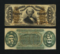 Fractional Currency:Third Issue, Fr. 1330SP/1331SP 50¢ Third Issue Spinner Narrow Margin Pair Gem New.... (Total: 2 notes)