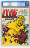 Golden Age (1938-1955):Miscellaneous, Clue Comics #8 Crowley Copy pedigree (Hillman Publications, 1944) CGC NM- 9.2 Cream to off-white pages....
