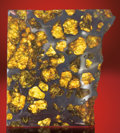 Meteorites:Stoney Irons, A LARGE AND SPECTACULAR SLICE WITH GEM OLIVINE. ...