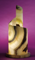 Lapidary Art:Carvings, SPIRALING ONYX LAMP. ...