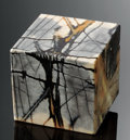 Lapidary Art:Boxes, PICASSO MARBLE CUBE BOX. ...