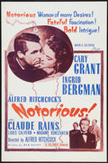 "Movie Posters:Hitchcock, Notorious (Selznick, R-1954). One Sheet (27"" X 41""), Lobby Card(11"" X 14""), and Pressbook (11"" X 17""). Hitchcock.. ... (Total: 3Items)"