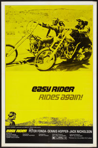 "Easy Rider (Columbia, R-1972). One Sheet (27"" X 41""). Drama"
