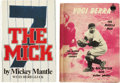 Autographs:Others, Mickey Mantle and Yogi Berra Single Signed Books Lot of 2....(Total: 2 items)