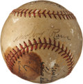 Autographs:Baseballs, 1935 Detroit Tigers World Champions Team Signed Baseball....