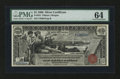 Large Size:Silver Certificates, Fr. 224 $1 1896 Silver Certificate PMG Choice Uncirculated 64....