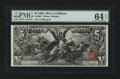 Large Size:Silver Certificates, Fr. 268 $5 1896 Silver Certificate PMG Choice Uncirculated 64EPQ....