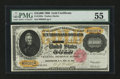 Large Size:Gold Certificates, Fr. 1225c $10000 1900 Gold Certificate PMG About Uncirculated55....